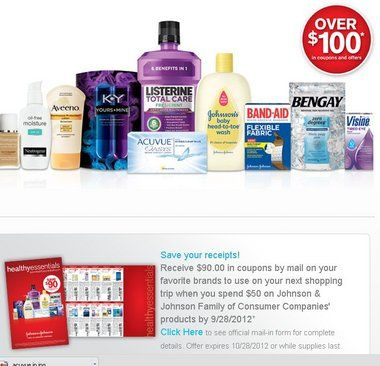 New Johnson Johnson Printable Coupons 90 Coupon Booklet Rebate Coupons By Mail Johnson And Johnson Johnson