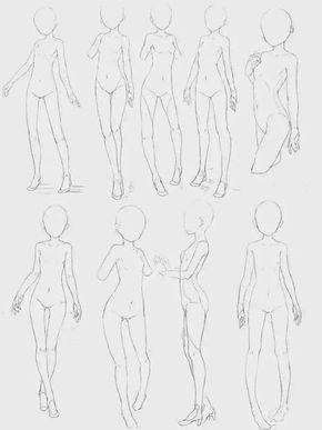 Image Result For Full Body Reference Anime Drawing Body Poses Drawing Reference Poses Body Sketches