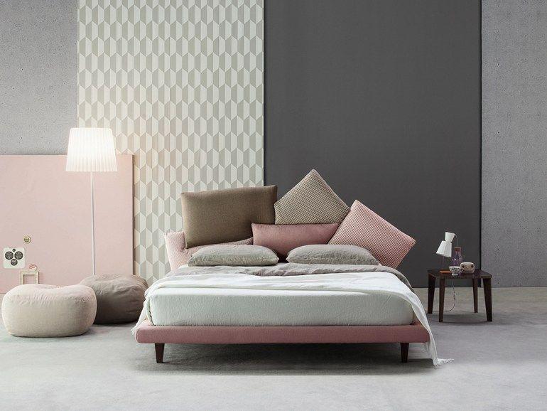 lit double en tissu avec tete rembourree picabia lit double by bonaldo