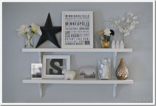 Cute things to put on shelves besides pictures - Things to put on a wall ...
