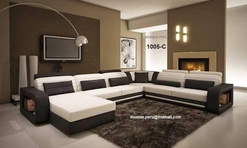 Muebles De Sala Modernos Y Elegantes Buscar Con Google Sectional Sofa Room Furniture Design Leather Sectional Sofa