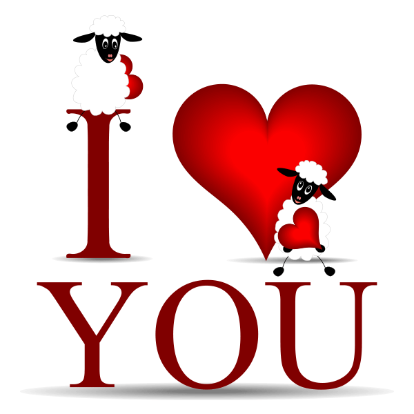 sheepish love emoticon symbols emoticons and greeting words rh pinterest com I Love You Funny Clip Art Cute I Love You Drawings