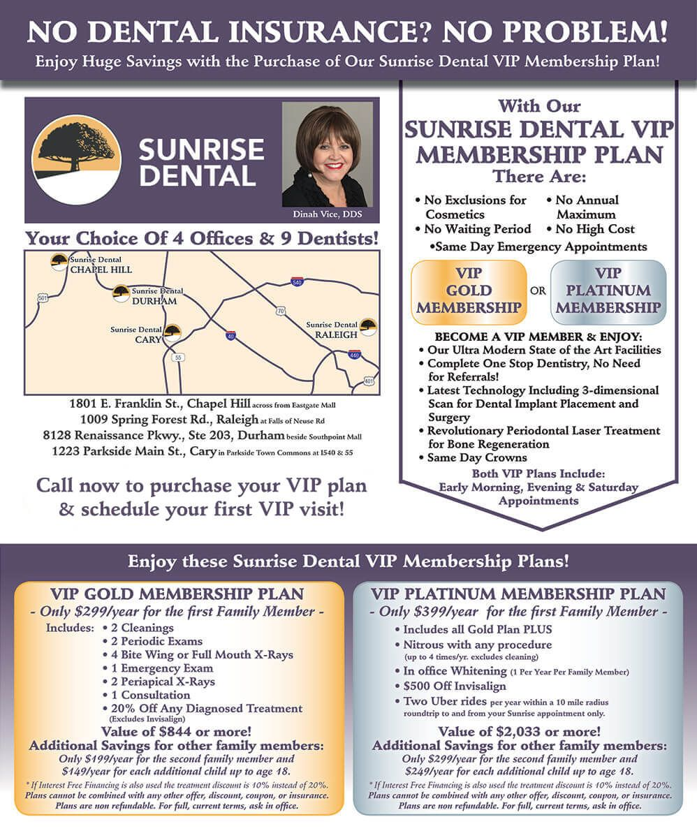 Sunrise Dental Specials Promos With Images Dental Insurance