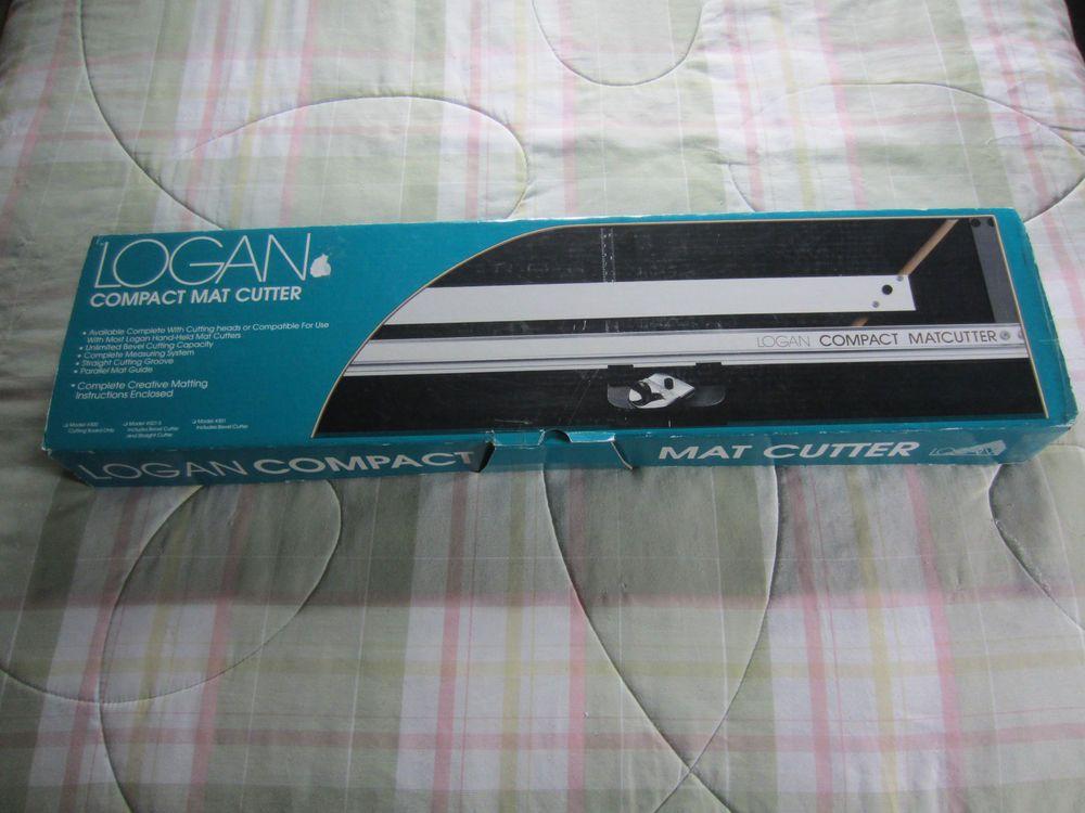 Logan Compact Mat Cutter Model 301 W Bevel Head Blades User Guides Near Mint Logan Ebay Logan Mats