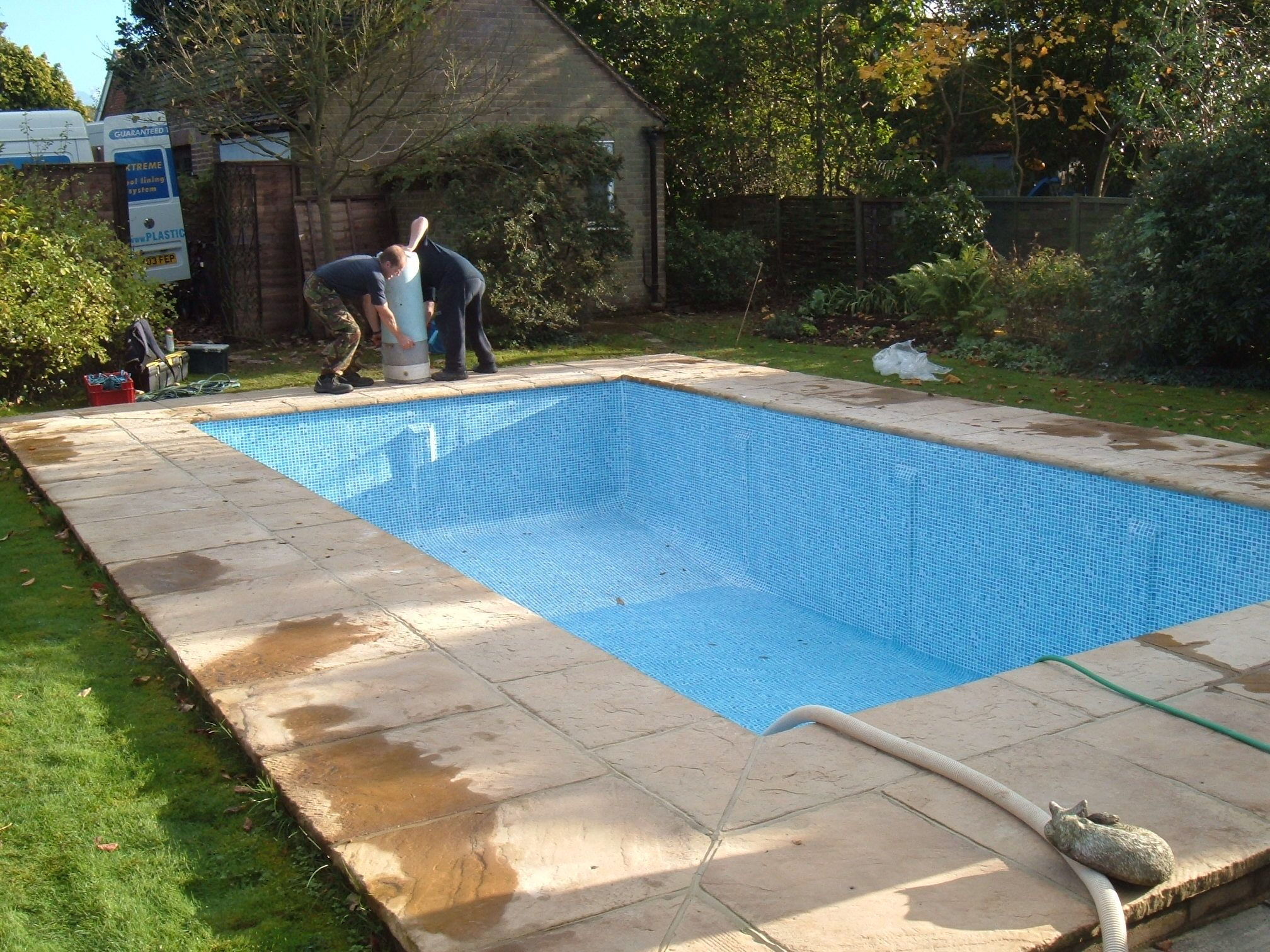 Onsite Swimming Pool Liner Installed Let The Filling Commence Home Ideas The Great Outdoors