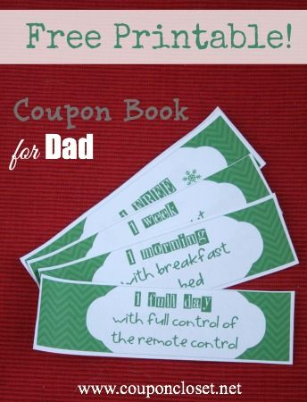 FREE Christmas Coupon Book Printables for Mom and Dad! \