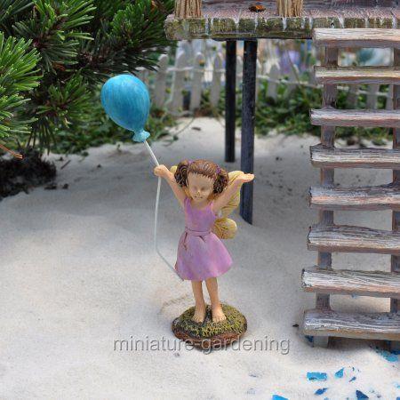 Marshall Home And Garden Miniature Fairy Garden Balloon Fairy, Color Options