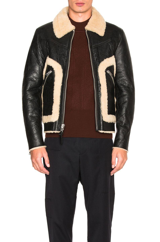 Coach Shearling Stinger Jacket In Black Crackle Modesens [ 1440 x 953 Pixel ]