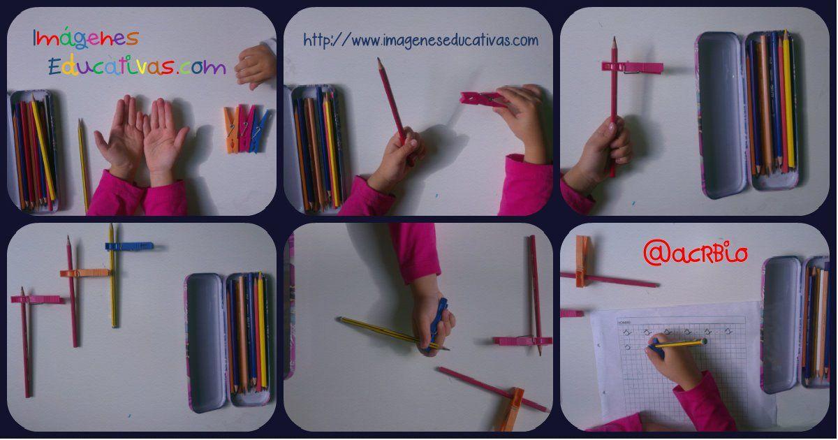 Fer la pinça correctament. Agafar bé els estris d'escriptura.