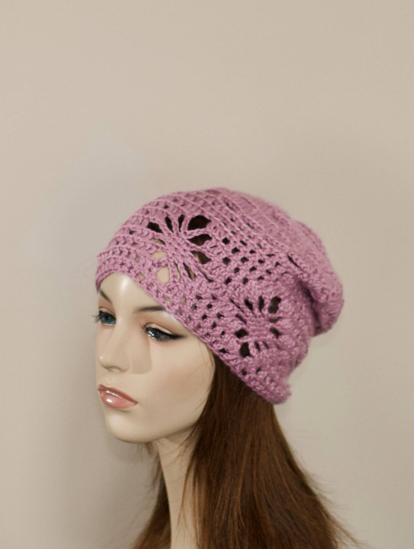 f1bf2a46c02 Spring Slouchy Beanie Women Hat Slouchy Beanie Summer Hat Chemo Hat CHOOSE  COLOR Peony Pink Chemo Slouchy Beanie Crochet Gift under 50 by lucymir on  Etsy
