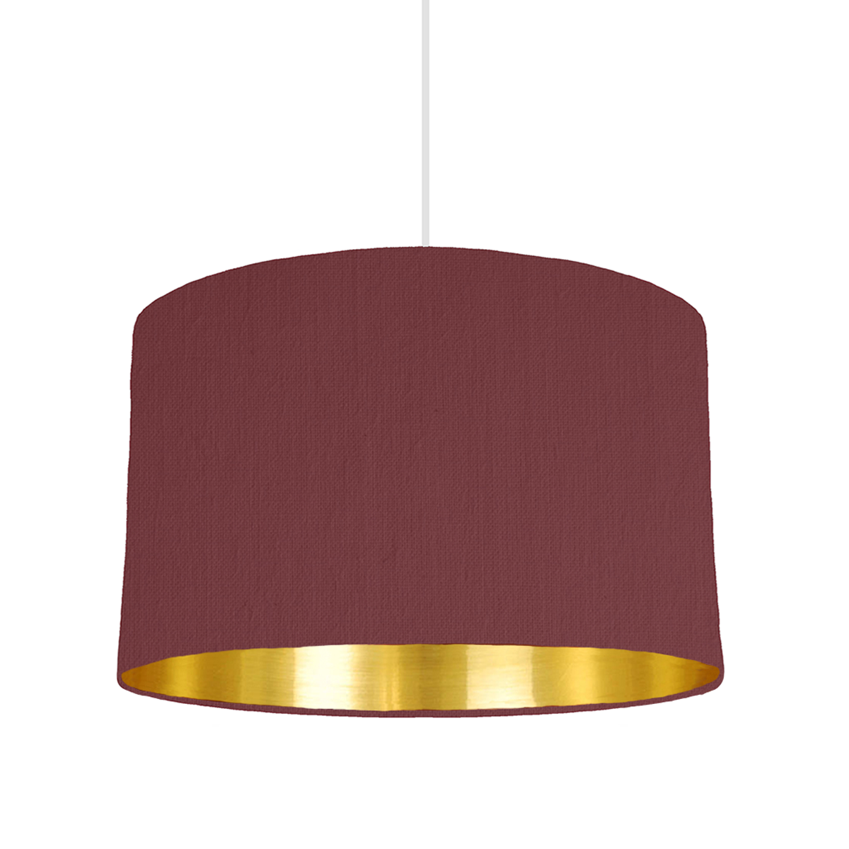 Wine red bespoke lampshade with gold mirrored lining custom bymarie is a bespoke lampshade designer based in london specializing in custom made lampshades with mix match lining colours aloadofball Image collections