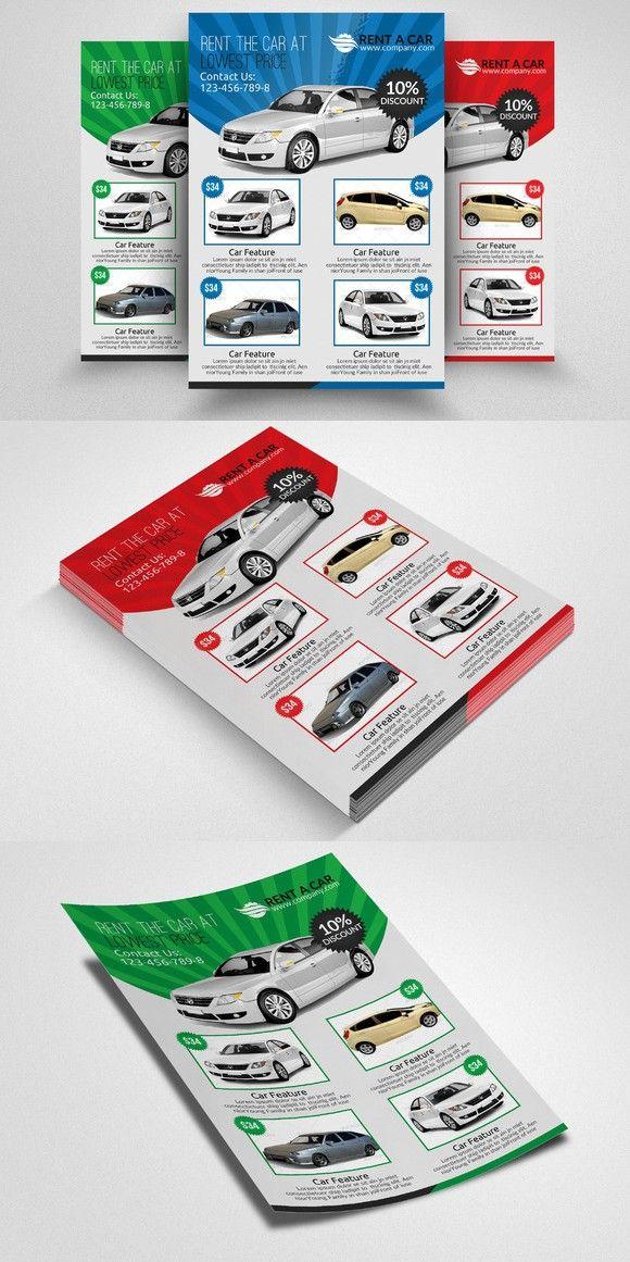 Rent A Car Flyer Template Flyer template, Flyer, Templates