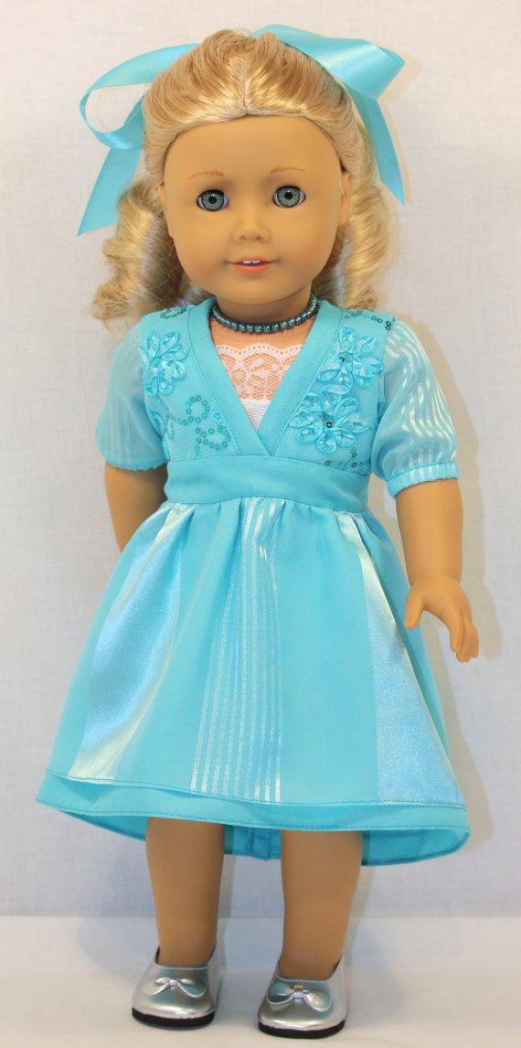 18 Inch Doll Clothing - Heavenly Blue Dress | Pinterest ...