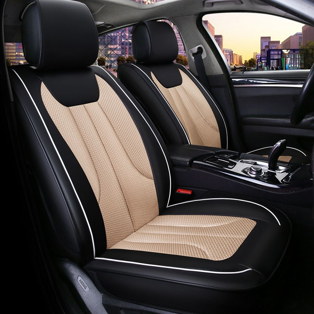 Breathable Mesh Car Seat Cover Soft Ice Silk Fabric Front&Rear Seat ...