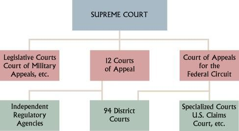 A Flow Chart Of The Organization Of Our Federal Court System In The