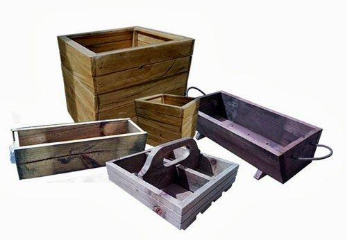 Jardineras y maceteros de madera jardineras y maceteros - Como impermeabilizar madera ...