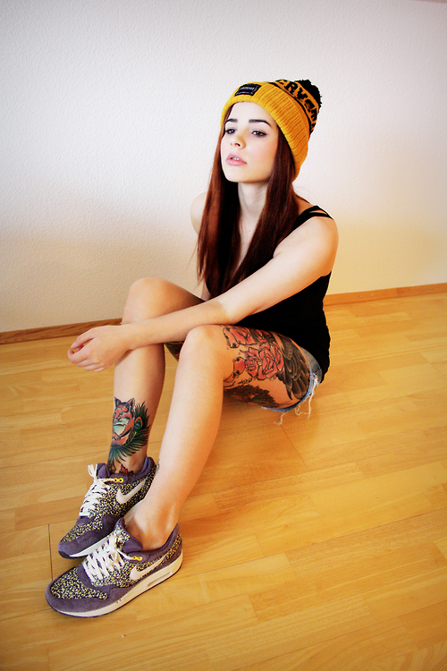 Nike Air Max 90 Fille Tatouages ​​tumblr