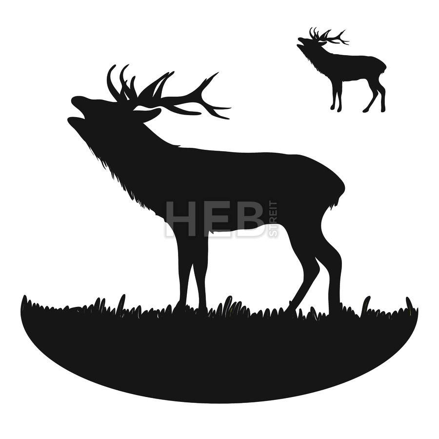 roaring deer silhouette
