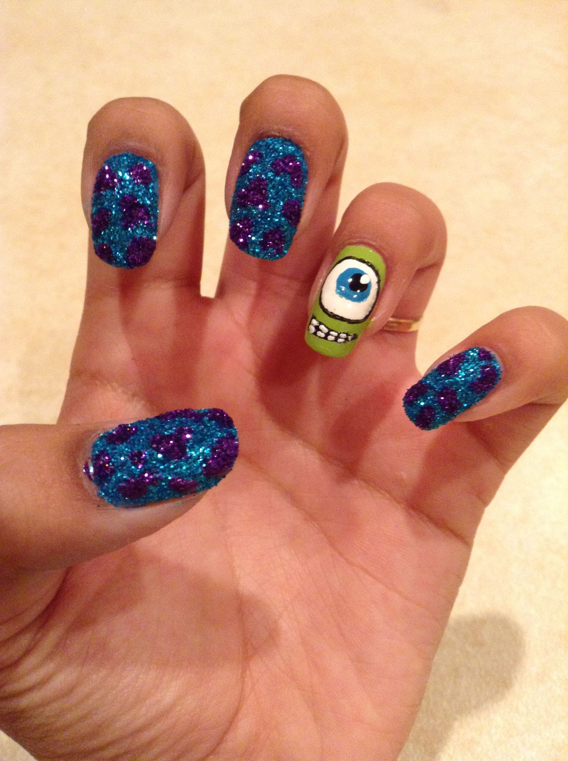 Monsters Inc. Nails | My Nail Designs | Pinterest