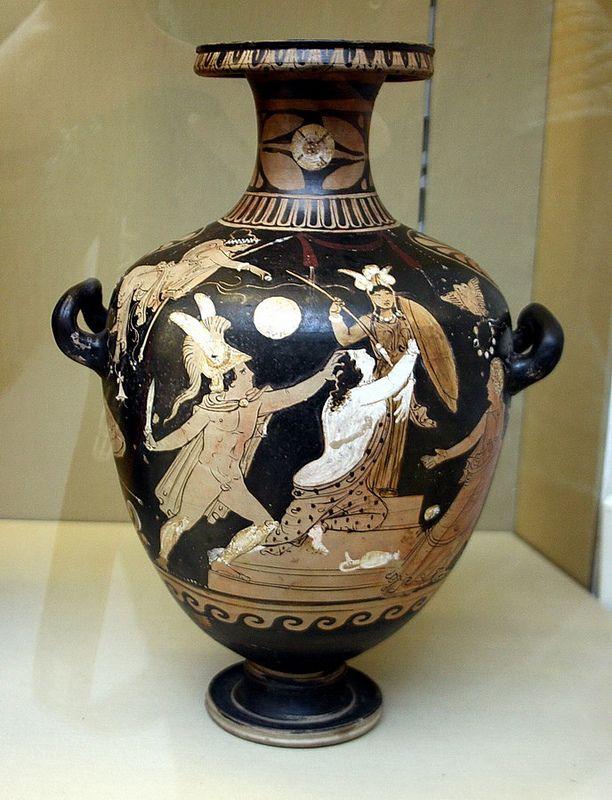 Londres British Museum Hdria De Figures Roges Feta A Campnia Ca