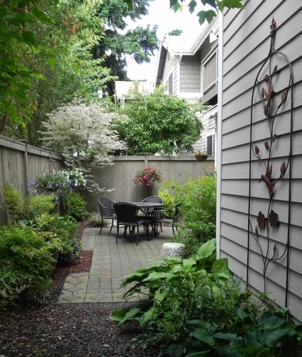 Incorporating a patio into a small space | Yard, Garden and ...