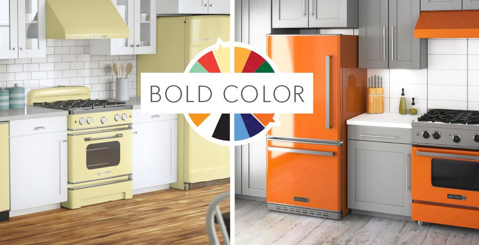 Retro and Modern Stoves, Ranges & Ovens | Big chill, Bold colors and ...