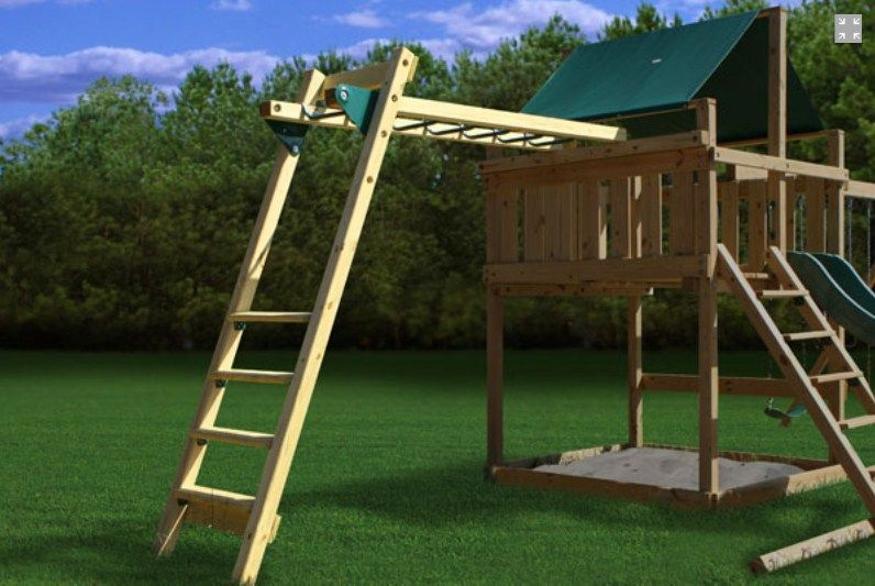 Backyard · Add A Set Of Monkey Bars ...
