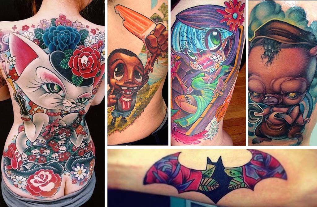 New school tattoos are brilliant art new school tattoo