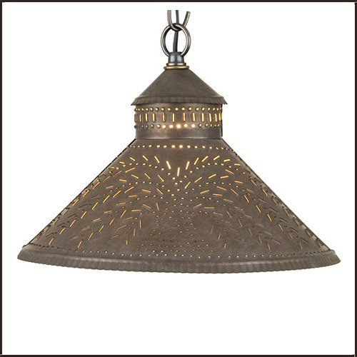 Stockbridge shade light with willow in blackened tin irvins country tinware at thenicnacstop com