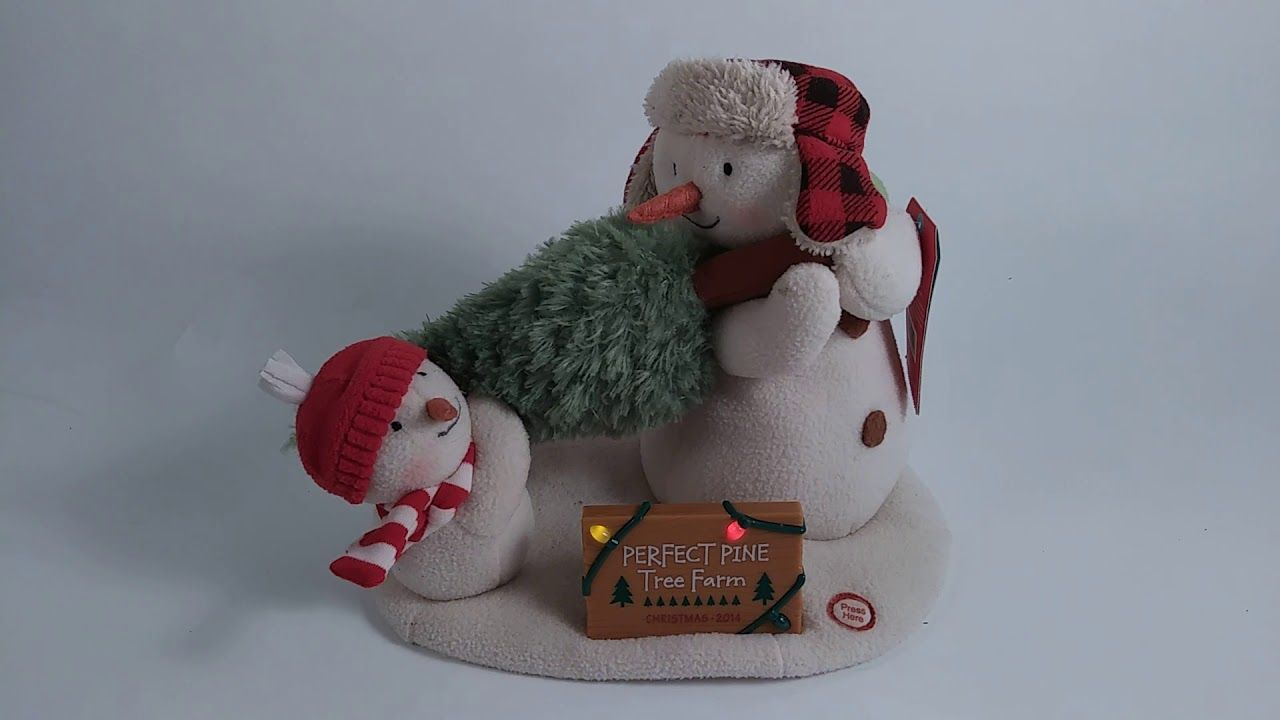 2014 Hallmark Jingle Pals The Perfect Tree Singing Snowman ...