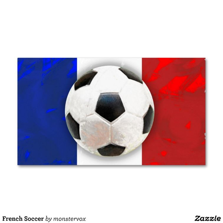 French Soccer Business Card Templates #France #Soccer #Sports ...