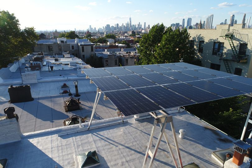 See How Brooklyn Solarworks Makes Their Solar Canopy Solar Canopy Design Brownstone Homes