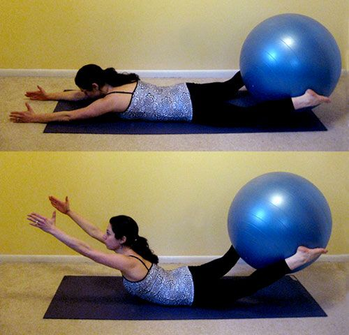 Stability Ball Glute: Get On The Ball: Superman Booty Lifts