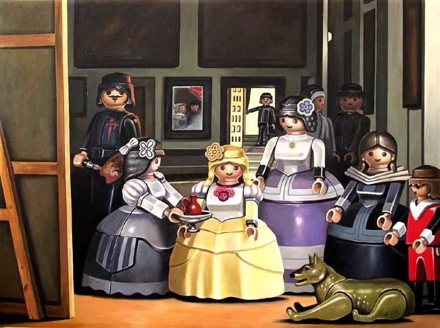 VELASQUEZ 'las meninas' by pierre-adrien sollier | Les ménines, Peinture classique, Art jouet
