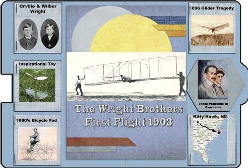 Wright Brothers Lapbook from http://heartofwisdom.com/scrapbook/tutorial-step-by-step-simple-lapbook