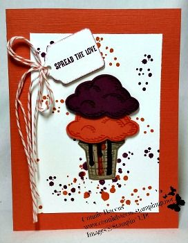 Was creating cards using Stampin' UP's Ghoulish Grunge stamp set. Normally it's a Halloween set but I was out to use it in different ways. Here in Florida dripping ice cream in a common sight. So spread those drips around. Visit my website/blog to learn more. 10/30/16
