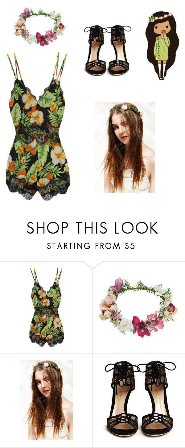 Tropical Black Sandals Flower Crowns And Topshop