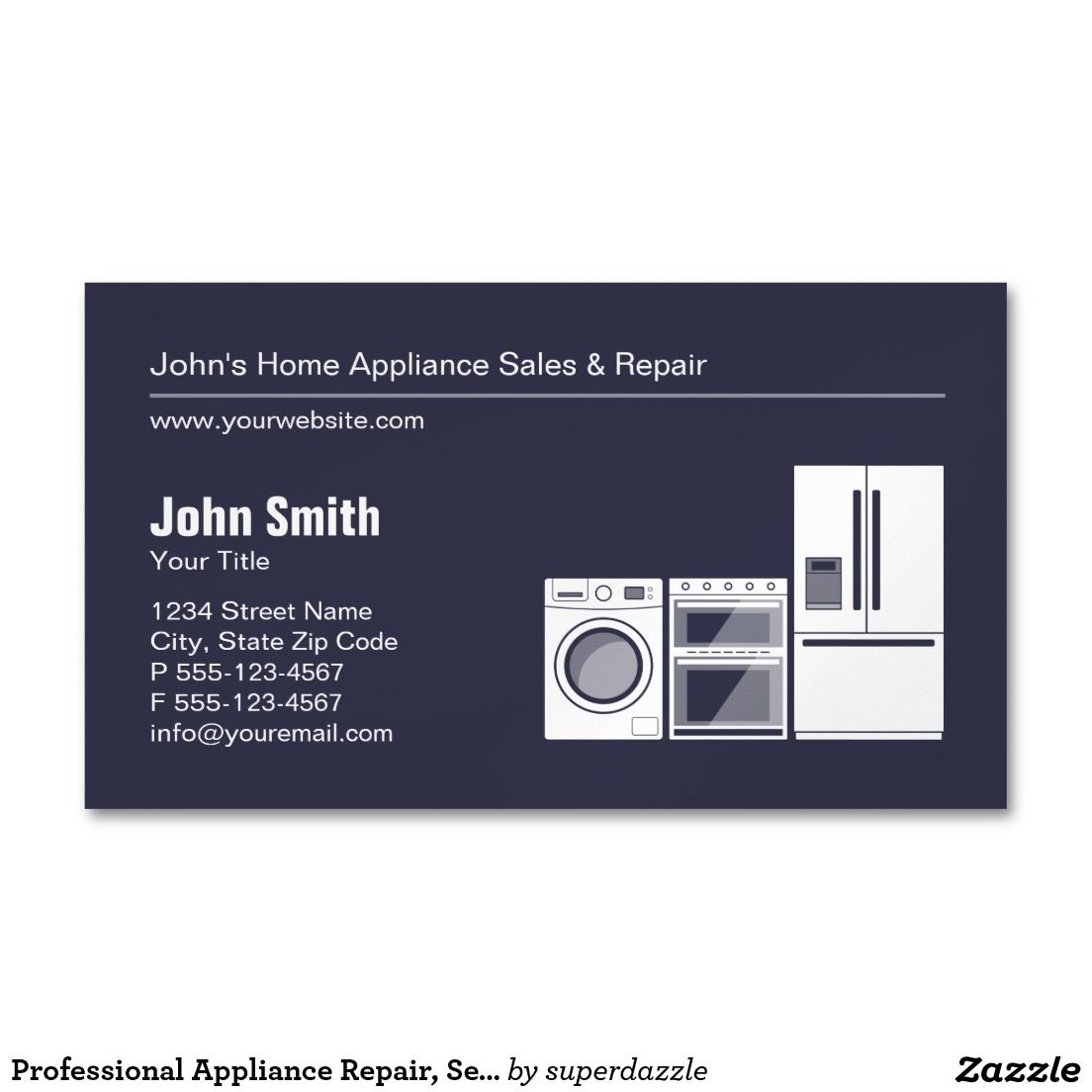 Professional Appliance Repair, Service and Sale Business Card Magnet ...