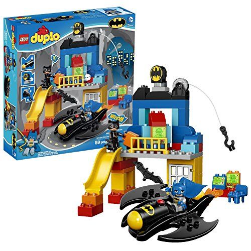 Lego Year 2014 Duplo Batman Series Set #10545 - BATCAVE ADVENTURE with Batcave Batwing TV and Comp @ niftywarehouse.com