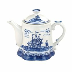 Blue Sails by Sadek is an exquisite teapot with a unique ruffled base.