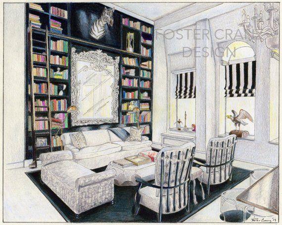 Bond Street Living Room Original Art Print Of Interior