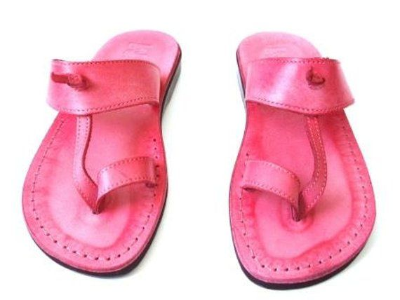 e105d235ff3 Pink Leather Sandals