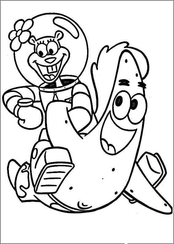 SpongeBob Ausmalbilder. Malvorlagen Zeichnung druckbare nº 19 ...