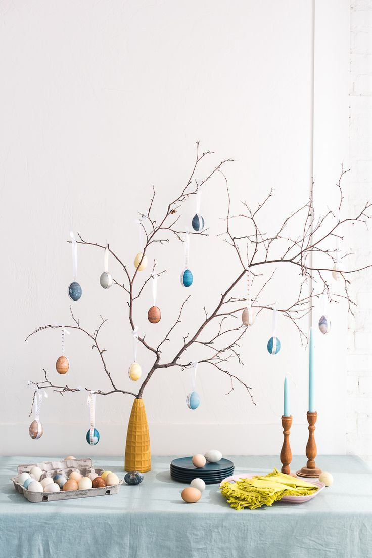 Naturally Dyed Easter Egg Tree Naturally Dyed Easter Egg Tree