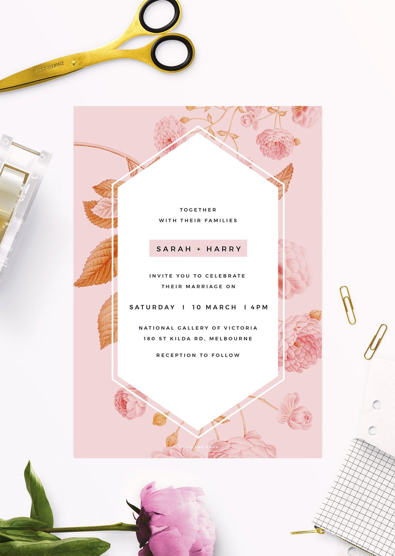 Online Shop Floral Wedding Invitations Floral wedding Floral