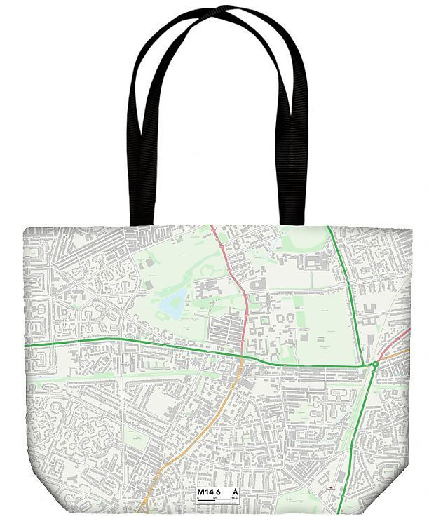 Shopping Bag Manchester M14 6 Map