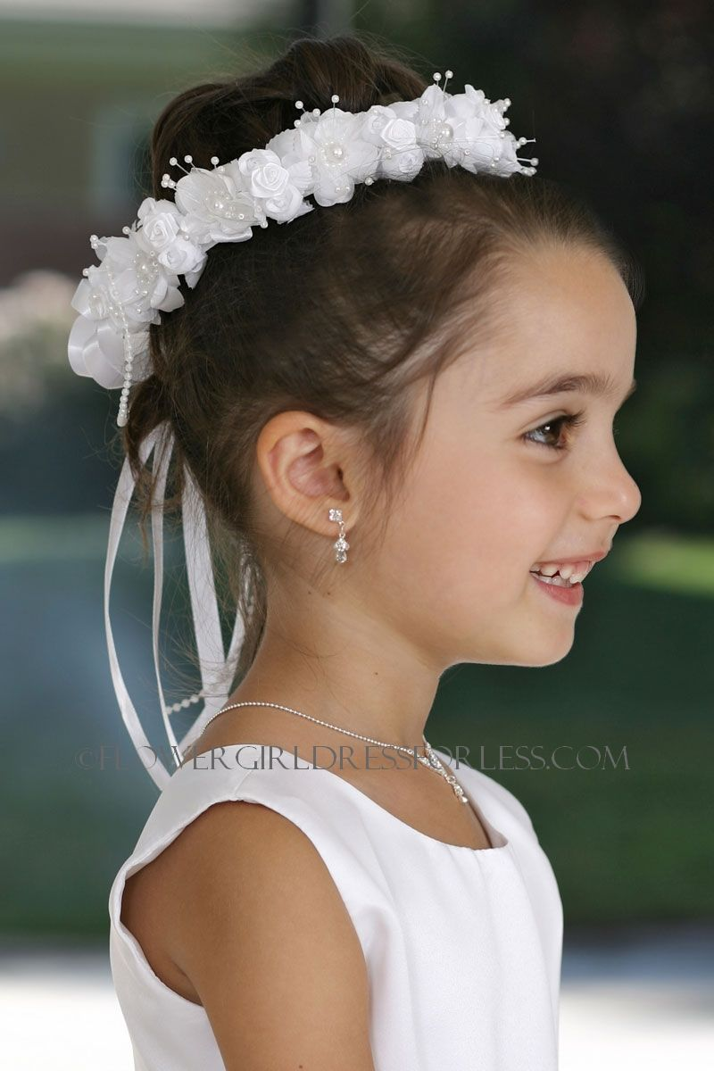 Tt479 head wreath crown in choice of color ivory flower girl tt479 head wreath crown in choice of color ivory flower girl dress for less izmirmasajfo