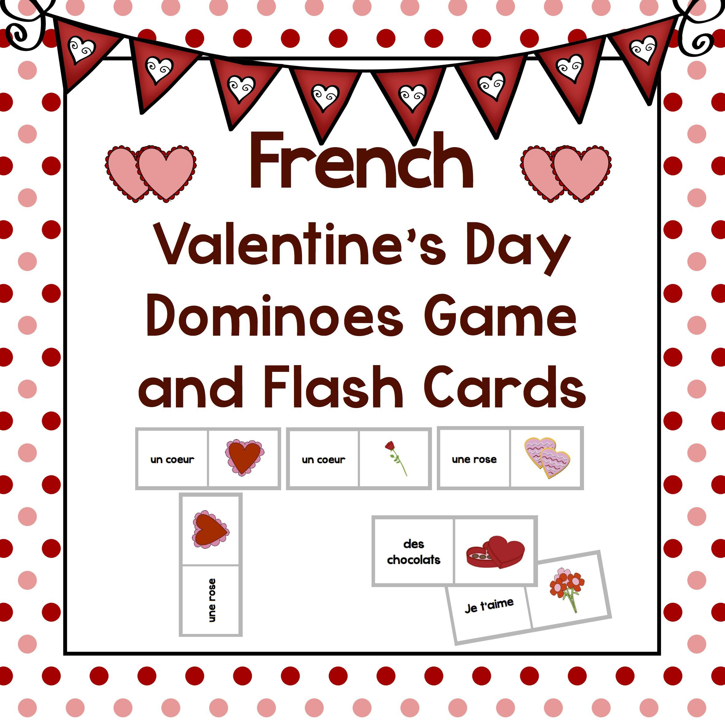 la saint valentin french valentine 39 s day word wall games and more french learning french. Black Bedroom Furniture Sets. Home Design Ideas
