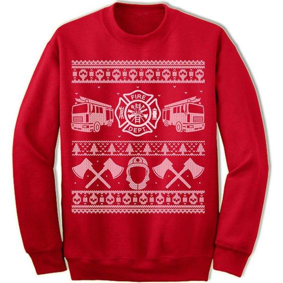Firefighter Christmas Shirt.Firefighter Christmas Gift Ugly Christmas Sweater