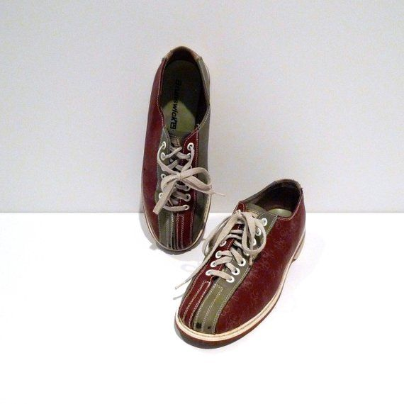 Bowling Flats Pin Vintage amp; Shoes Color Brunswick Rockabilly Balls Print Oxford Block fnw6df4xHq